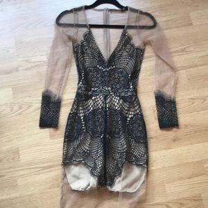 For love and lemons black Antigua dress